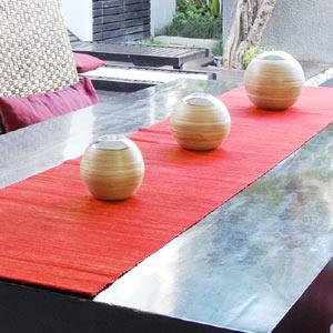 ウォーター ヒヤシンス アジアンテーブルランナー テーブル センター デコレーション タペストリー ファブリック アジアン