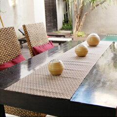 テーブルランナーや壁に飾ってタペストリーとして使えるバリ島の人気アジアキッチン雑貨ウォー...