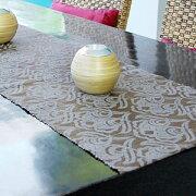 ウォーター ヒヤシンス テーブル ランナー オリーブ センター デコレーション タペストリー ファブリック アジアン