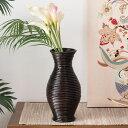 ぐるぐるラタンの造花フラワーベース(くびれ型)(12670)【花瓶 壺...