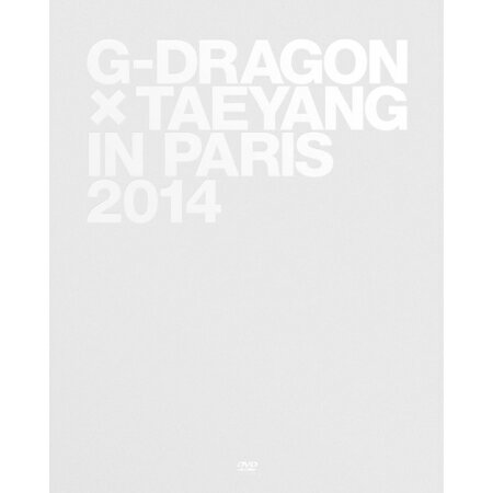韓国書籍 写真集 BIGBANG:G-DRAGON X TAEYANG /G-DRAGON X TAEYANG IN PARIS 2014(写真集) 韓国版