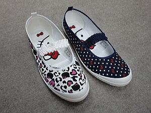 キティちゃん 大きいサイズの上靴【バレーシューズ】【上履き】【室内】【ジュニア】【大人】【介護】【KITTY】