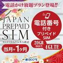プリペイドsim 日本 docomo 通話付き プリペイドsimカード simカード プリペイド sim card 10GB かけ放題 マルチカットsim MicroSIM NanoSIM ドコモ 携帯 携帯電話 simフリールーター 電話・・・
