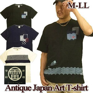 Tシャツ メンズ 半袖 伝統 和柄 スラブ天竺生地 / M L LL