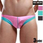 【SEOBEAN/セビン】男性水着/3色/27ロゴ・ツートンコントラスト/メンズビキニタイプ・ローライズ・スイムウェアメンズ 水着 パンツ