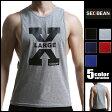 SEOBEAN/セビン X-LARGE コットン100% メンズ クルーネック アームホール マッスルタンクトップ ノースリーブ 袖なし 綿