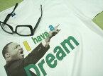 キング牧師Tシャツ【サイズ:S 、M 、L 、XL 】【5000円以上で】送料無料 Tシャツ メンズ 大きいサイズ 半袖 メッセージ 公民権運動 キング牧師 名言 演説 Tシャツ I have a dream Tshirt 無料ラッピング