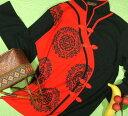 チャイナカラー長袖Tシャツ【サイズ:女性M 、女性L 】【5000円以上で】送料無料チャイナカラーTシャツレディス長袖ロンTマオカラー太極拳服ウェアカットソーUniform Tai Chi Clothing Kung Fu Jacketラッピング無料