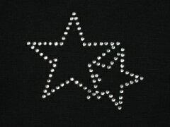 アイロン デコシート 1076 星 アップリケ アイロン ラインストーン 【激安】【格安】 簡単 デコ アレンジ メール便 オリジナル プチデコ リメイク