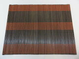 竹ランチョンマット160ブラウン&ブラック21枚1枚単位で買えます。【激安】業務用としてもオシャレな演出!!