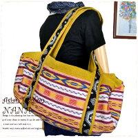 ボストンバッグバッグ民族衣装個性的ボストンレディースladiesショルダーバッグ旅行アウトドアに便利な大容量のボストンバッグ♪