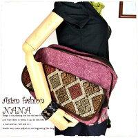 ショルダーバッグバッグ民族衣装個性的オルテガ柄レディースladiesネイティブ柄バッグ男女兼用で使いやすいショルダーバッグ♪