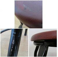 ドクターチェア木製スツール丸椅子49cm