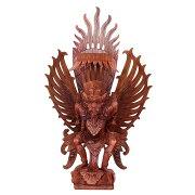 ガルーダの木彫り72cmスワール無垢材MADEM作080182