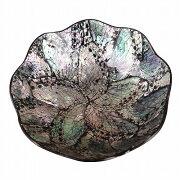 シェルラウンドトレー直径15cmアバロンシェルプルメリア