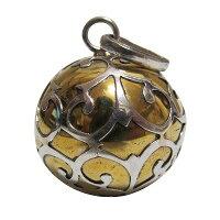 アラベスク(唐草模様)ゴールドガムランボール2cm