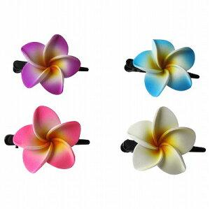 プルメリア 花のヘアピン Sサイズ 4COLORS【メール便OK】