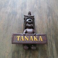 Tikiティキの木彫りのネームプレート【オーダーメイド】ASIANTIQUEORIGINAL