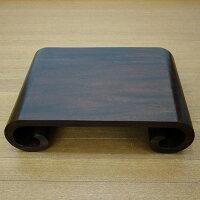 一本の木をくり抜いて作った渦巻きテーブル50X35X13