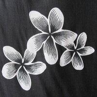マルチファブリックプルメリアサロン7ブラック-ホワイト