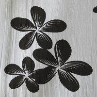 マルチファブリックプルメリアサロンNo.122ホワイト-ブラック【メール便OK】