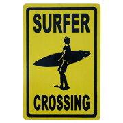 SURFERCROSSINGハワイアンサインボード20X30