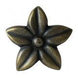 家具の取っ手 プルメリアの花真鍮製 ハンドルN-098 【メール便OK】