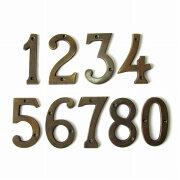 真鍮製壁掛けハウスナンバー0123456789