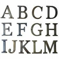 アルファベットA〜M真鍮製ブラスアンティークレプリカABCDEFGHIJKLM【メール便OK】