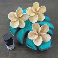 プルメリアの木彫りの造花7cmリアル5個セットナチュラル