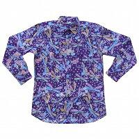 バティックシャツ長袖シャツコットンNo.320【メール便OK】