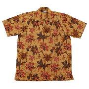 バティックシャツ半袖シャツコットン150114【メール便OK】