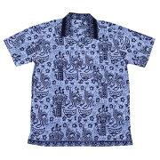 バティックシャツ半袖シャツコットンバロン150170【メール便OK】