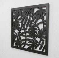 葉っぱの壁掛けレリーフMDFパネル60X60タイプB