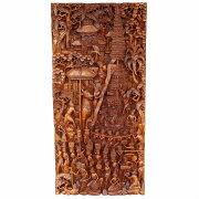 ナベン(ガベン)NGABENバリヒンドゥのお葬式木彫りのレリーフ46X7X98カパランウッド無垢材