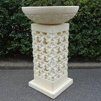 プルメリア水盆ストーンランプ80cmコンクリート製