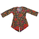 クバヤバリ島民族衣装レディース花柄ジャケットNo.582【メール便OK】