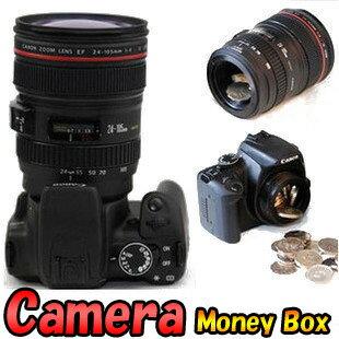とってもユニークなインテリアにも最高のカメラ型貯金箱。プレゼントに最適!【激レア雑貨】☆...