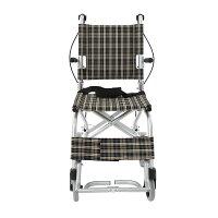 楽々健折り畳み式車椅子介助型軽量アルミ製簡易車椅子旅行用外出用コンパクト