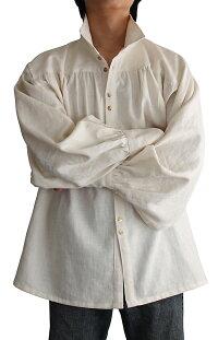 ヘンプのルネッサンスシャツ