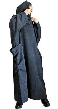 ジョムトン手織り綿オフタートルルーズドレス