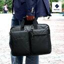 FACTUS.h ファクタスオム ビジネスバッグ ブリーフケース メンズ 1680Dポリエステル 2way 軽量 撥水 通勤 PC対応 ブラック B4 fa303 送料無料