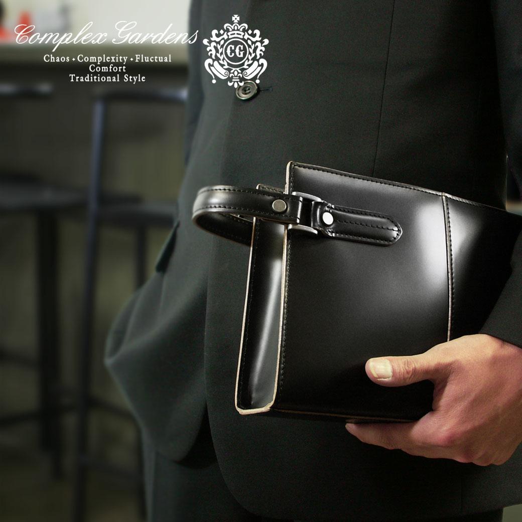 セカンドバッグ メンズ 枯淡 本革 ブランド COMPLEX GARDENS コンプレックスガーデンズ コタン クラッチバッグ レザー 軽量 日本製 フォーマル メンズ バッグ 青木鞄 メンズセカンドバック メンズ セカンドバッグ 小さめ