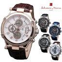 腕時計 Salvatore Marra SM18102 メンズ 腕時計 サルバトーレマーラ クロノグラフ 時計 クォーツ レザーベルト ビジネス カジュアル 通販
