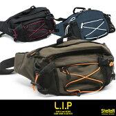 即納 多機能 LIPのウエストバッグがこの価格で発売! ウエストバッグ LIPA-041 ボディバッグ ヒップバッグ メンズ ボディーバック ヒップバック ナイロン ウエストバック ウエスト バッグ バック 軽量 旅行 ウエストポーチ あす楽 父の日