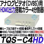 TQS-C4HD【19インチラック対応HDMI出力搭載画面4分割ユニット】