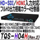 TQS-H04H【19インチラック対応HD-SDI・HDMI入力対応画面4分割ユニット】