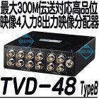 TVD-48(TypeB)【映像信号4入力8出力分配器】