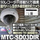 MTC-SD03DIR【SDXC128GB対応赤外線搭載屋内ドーム型SDカードカメラ】