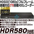 HDR-580【HD-SDI方式30コマ録画対応2TB搭載カメラ8台用録画機】